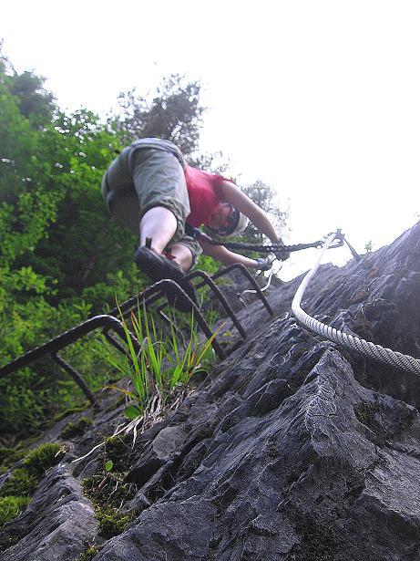Foto: Andreas Koller / Klettersteig Tour / Raiffeisen Klettersteig Klammgraben (820m) / 22.06.2009 01:57:26