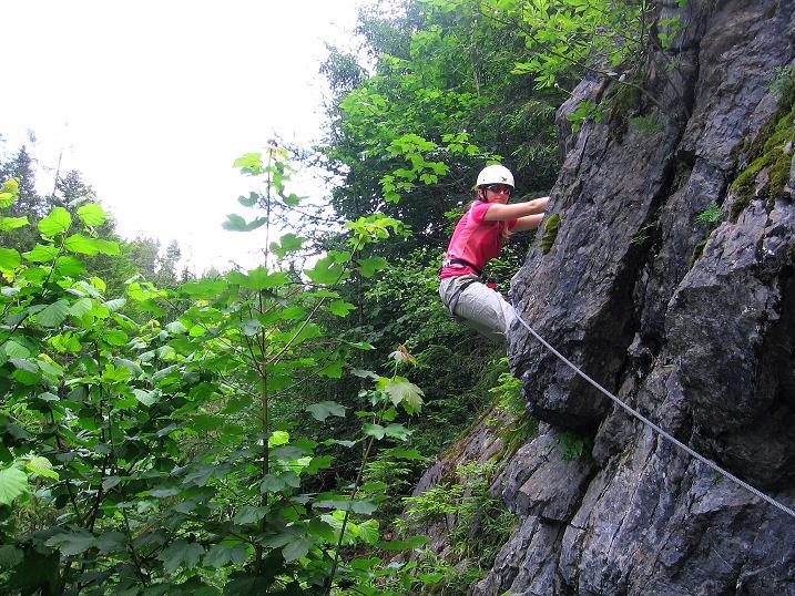 Foto: Andreas Koller / Klettersteig Tour / Raiffeisen Klettersteig Klammgraben (820m) / 22.06.2009 01:57:18