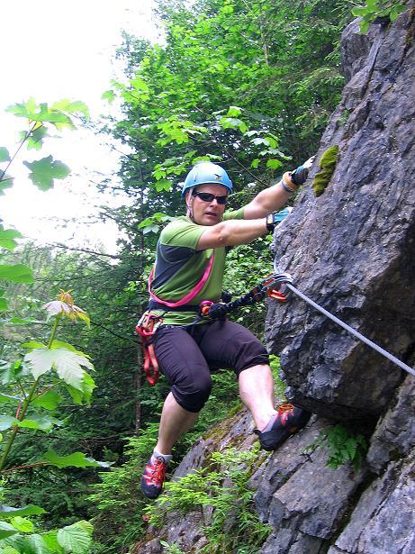 Foto: Andreas Koller / Klettersteig Tour / Raiffeisen Klettersteig Klammgraben (820m) / 22.06.2009 01:57:10