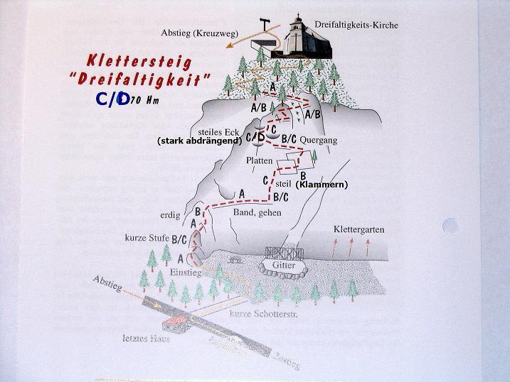 Foto: Andreas Koller / Klettersteig Tour / Klettersteig Dreifaltigkeit (467m) / 01.07.2009 01:32:29