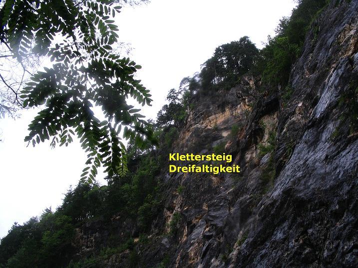 Foto: Andreas Koller / Klettersteig Tour / Klettersteig Dreifaltigkeit (467m) / 01.07.2009 01:32:35