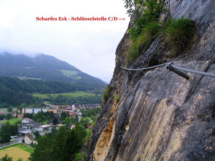 Foto: Andreas Koller / Klettersteig Tour / Klettersteig Dreifaltigkeit (467m) / 01.07.2009 01:31:04
