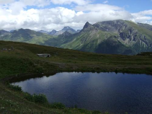 Foto: hofsab / Mountainbike Tour / Rund um den Olperer über Tuxer Joch (2338 m) - 3 Tagestour / Blick von der Brenner Grenzkammstraße zu den Dolomiten / 26.08.2009 20:23:11