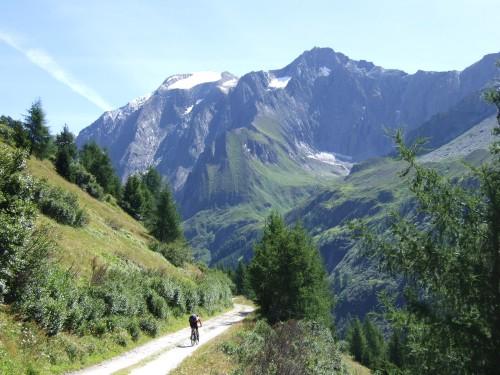 Foto: hofsab / Mountainbike Tour / Rund um den Olperer über Tuxer Joch (2338 m) - 3 Tagestour / Auffahrt zum Pfitscher Joch / 26.08.2009 20:36:44