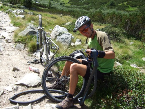 Foto: hofsab / Mountainbike Tour / Rund um den Olperer über Tuxer Joch (2338 m) - 3 Tagestour / da kann schon ein Schlauch schlapp machen / 26.08.2009 20:41:31