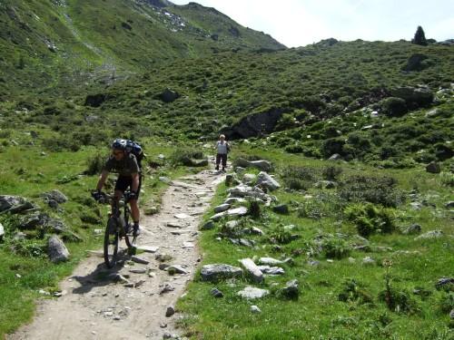 Foto: hofsab / Mountainbike Tour / Rund um den Olperer über Tuxer Joch (2338 m) - 3 Tagestour / perfekter Trail / 26.08.2009 20:42:27