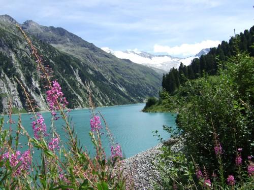 Foto: hofsab / Mountainbike Tour / Rund um den Olperer über Tuxer Joch (2338 m) - 3 Tagestour / am Schlegeisspeicher / 26.08.2009 20:42:47