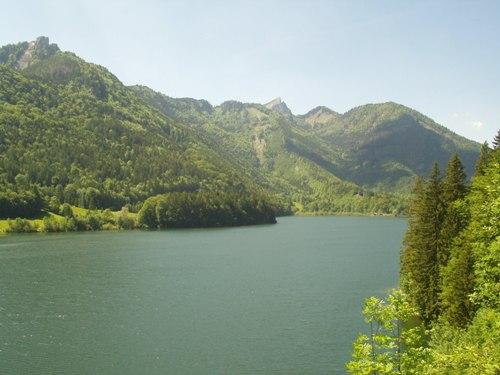 Foto: hofsab / Mountainbike Tour / Eisenaueralm (1015 m) mit Schwarzensee / nach der Auffahrt von der Burgau am Schwarzensee  (716 m) angekommen / 13.08.2009 20:41:19