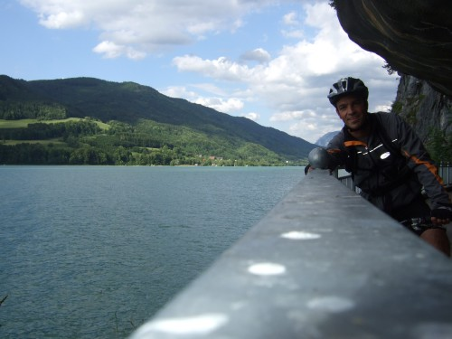 Foto: hofsab / Mountainbike Tour / Eisenaueralm (1015 m) mit Schwarzensee / am Mondseeufer / 13.08.2009 20:46:31