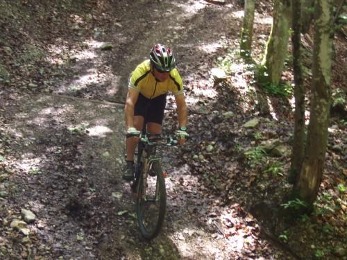 Foto: hofsab / Mountainbike Tour / Rund um und auf die Kampenwand (1664 m) / anfangs sehr steil / 13.08.2009 20:53:20