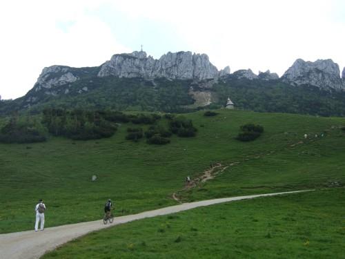 Foto: hofsab / Mountainbike Tour / Rund um und auf die Kampenwand (1664 m) / extrem steile Asphaltstraße zur und von der Gori Alm / 13.08.2009 20:57:17