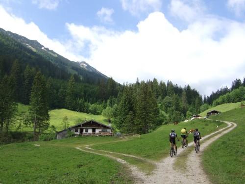 Foto: hofsab / Mountainbike Tour / Rund um und auf die Kampenwand (1664 m) / Auffahrt zur Dalsenalm / 13.08.2009 20:50:44