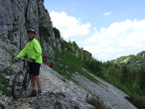 Foto: hofsab / Mountainbike Tour / Rund um und auf die Kampenwand (1664 m) / dwir wählten die Extremvariante / 13.08.2009 21:02:48