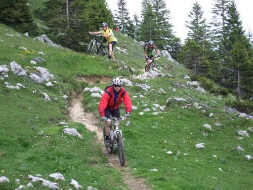 Foto: hofsab / Mountainbike Tour / Rund um und auf die Kampenwand (1664 m) / dafür warten ein Singletrail vom Feinsten / 13.08.2009 21:05:03