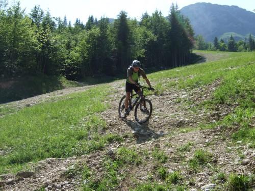 Foto: hofsab / Mountainbike Tour / Raschbergrunde (1390 m) über Blaa-Alm und Ewige Wand / anspruchvoller Downhill von der Skipiste / 13.08.2009 20:16:53