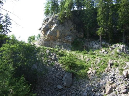Foto: hofsab / Mountainbike Tour / Raschbergrunde (1390 m) über Blaa-Alm und Ewige Wand / lange, steile Auffahrtsrampe / 13.08.2009 20:20:46