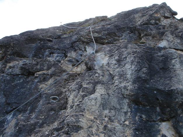 Foto: Manfred Karl / Klettersteig Tour / Saukarkopf Bella Cascinaia – erster Großarler Klettersteig / Es geht auch noch steil weiter / 17.07.2009 22:39:30