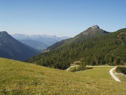 Foto: hofsab / Mountainbike Tour / Rauch- (1893 m) und Rosskopf (1929 m) von Flachauwinkl / am Weg zum Rauchkopf / 25.08.2009 12:45:22