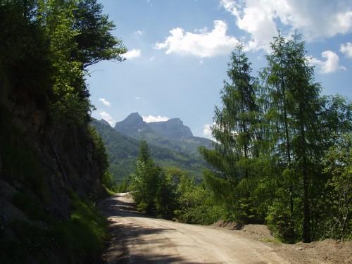 Foto: hofsab / Mountainbike Tour / Leonsbergalm (1410 m) über Schwarzensee / Blick zum Schafberg / 25.08.2009 12:38:13