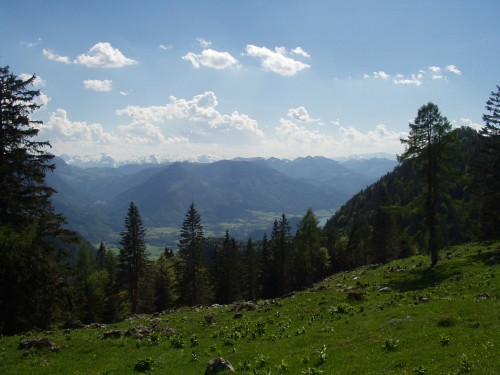 Foto: hofsab / Mountainbike Tour / Leonsbergalm (1410 m) über Schwarzensee / Panorama in die Osterhorngruppe / 25.08.2009 12:40:24