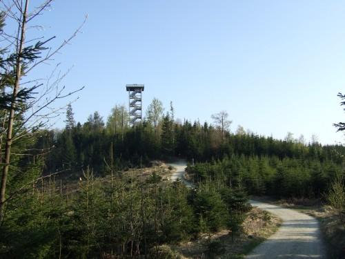 Foto: hofsab / Mountainbike Tour / Hausruckrunde über Göblberg (801 m) / uphill zum Aussichtsturm / 25.08.2009 12:32:30