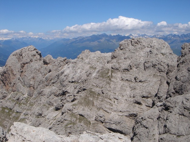Foto: Manfred Karl / Klettersteig Tour / Sepp Oberlechner Gedächtnisweg / Roter Turm und Laserzköpfe / 18.07.2009 14:43:08