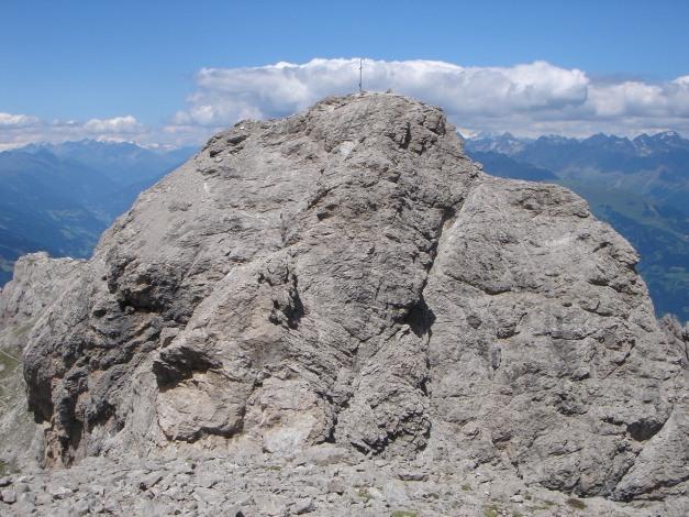 Foto: Manfred Karl / Klettersteig Tour / Sepp Oberlechner Gedächtnisweg / Blick von der Kleinen zur Großen Sandspitze / 18.07.2009 14:39:34