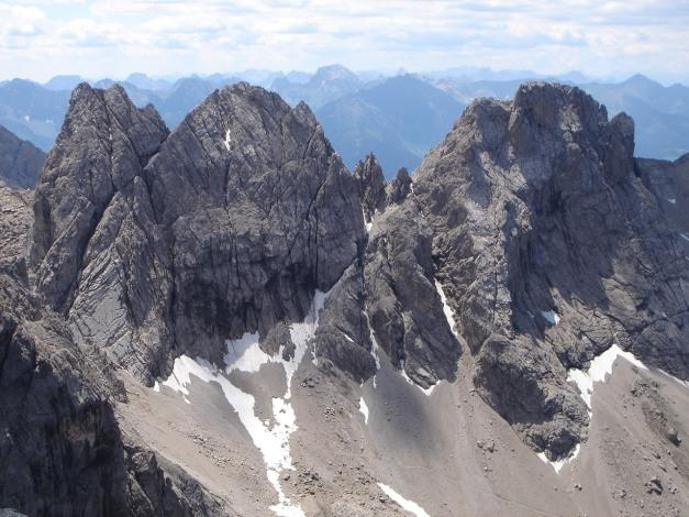 Foto: Manfred Karl / Klettersteig Tour / Sepp Oberlechner Gedächtnisweg / Die beiden Wildsender und der Seekofel / 18.07.2009 14:39:09