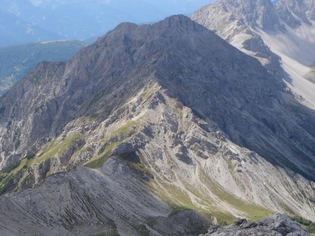 Foto: Manfred Karl / Klettersteig Tour / Simonskopf Südgrat Klettersteig / Weittalspitze, über deren Ostgrat verläuft der Allmaier Toni Steig (C) / 18.07.2009 15:00:28