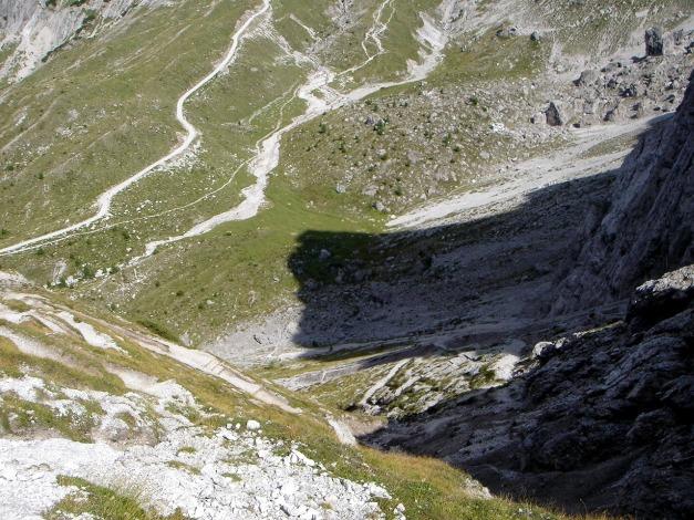 Foto: Manfred Karl / Klettersteig Tour / Simonskopf Südgrat Klettersteig / Abstieg vom Kerschbaumer Törl / 18.07.2009 14:51:43