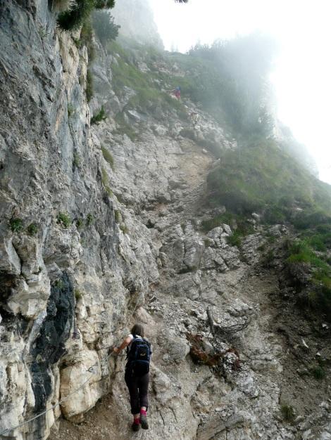Foto: Manfred Karl / Klettersteig Tour / Via ferrata Monte Roen / Beim Einstieg / 18.07.2009 15:19:41