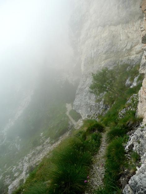 Foto: Manfred Karl / Klettersteig Tour / Via ferrata Monte Roen / Nebelsuppe / 18.07.2009 15:18:49
