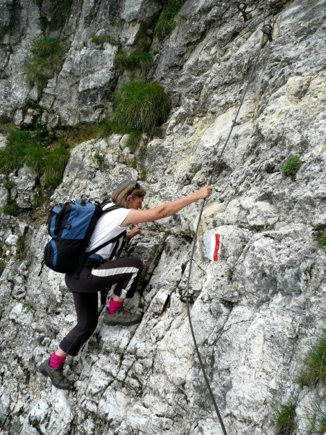 Foto: Manfred Karl / Klettersteig Tour / Via ferrata Monte Roen / Und hopp! / 18.07.2009 15:18:03