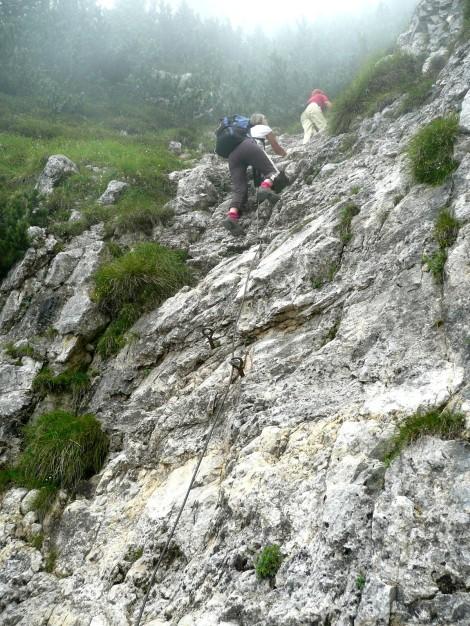 Foto: Manfred Karl / Klettersteig Tour / Via ferrata Monte Roen / Eine der etwas schwierigeren Stellen / 18.07.2009 15:17:17
