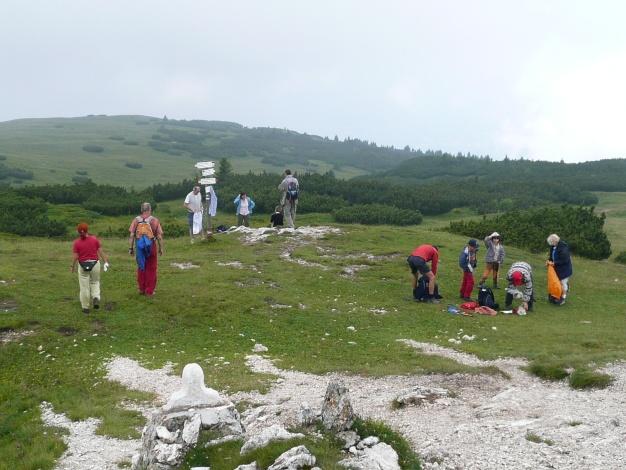 Foto: Manfred Karl / Klettersteig Tour / Via ferrata Monte Roen / Alle warten auf die vielgerühmte Aussicht / 18.07.2009 15:15:12