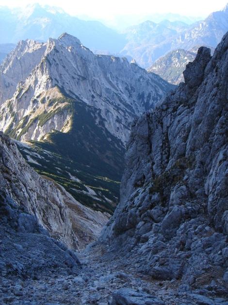 Foto: Manfred Karl / Wander Tour / Wagendrischlhorn Klettersteig / Schuttrinne in die Mayrbergscharte / 31.08.2009 17:26:46