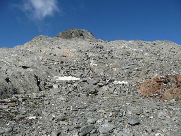 Foto: Manfred Karl / Wander Tour / Roteck – höchster Gipfel der Texelgruppe / Das kleine Plateau vor dem Gipfelgrat / 31.08.2009 15:38:44