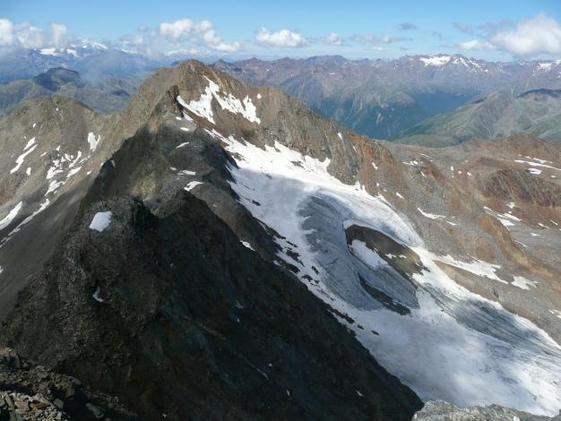 Foto: Manfred Karl / Wander Tour / Roteck – höchster Gipfel der Texelgruppe / Grat zur Texelspitze / 31.08.2009 15:33:27