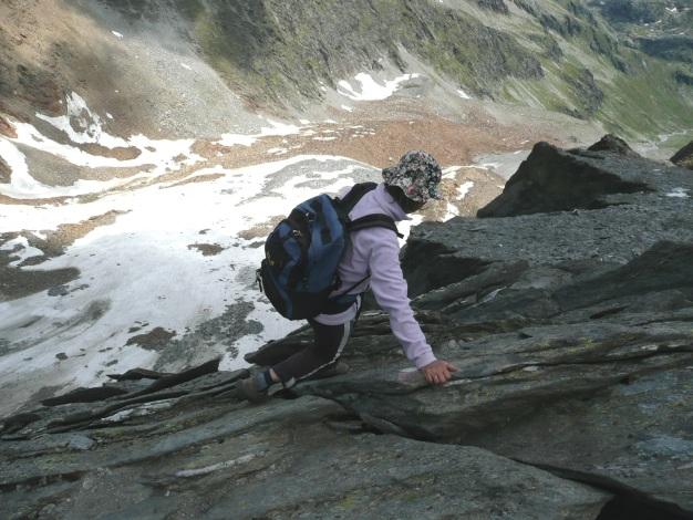 Foto: Manfred Karl / Wander Tour / Roteck – höchster Gipfel der Texelgruppe / Einige Stellen sind ganz schön luftig / 31.08.2009 15:28:43