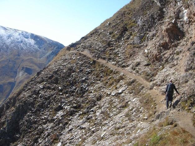 Foto: Manfred Karl / Wander Tour / Wilde Kreuzspitze – Highlight der Pfunderer Berge / Drahtseilgesicherte Stelle oberhalb des Seeabflusses vom Wilden See / 31.08.2009 19:02:06