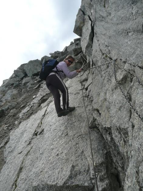 Foto: Manfred Karl / Wander Tour / Tschigat - markanter Gipfel über Meran / Nur wenige gesicherte Stellen / 31.08.2009 15:13:45