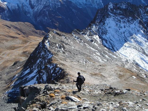 Foto: Manfred Karl / Wander Tour / Gratwanderung Böses Weibele – Tschadinhorn - Schönleitenspitze / Abstieg vom Tschadinhorn / 31.08.2009 20:14:08