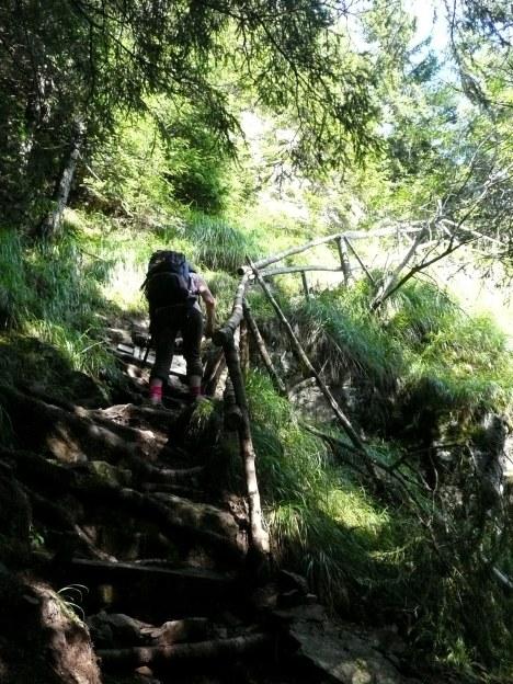 Foto: Manfred Karl / Wander Tour / Vom Gampenjoch auf die Laugenspitze / Sehr steiler Weg im unteren Teil / 31.08.2009 18:56:15