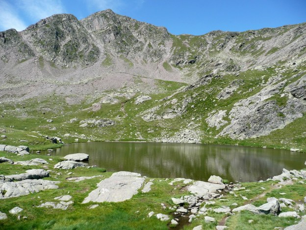 Foto: Manfred Karl / Wander Tour / Vom Gampenjoch auf die Laugenspitze / Laugensee mit Gr. Laugenspitze / 31.08.2009 18:53:26