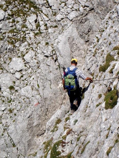 Foto: Manfred Karl / Wander Tour / Schärtenspitze, 2153 m / Vor der Steilstufe beim Abstieg / 31.08.2009 18:40:07