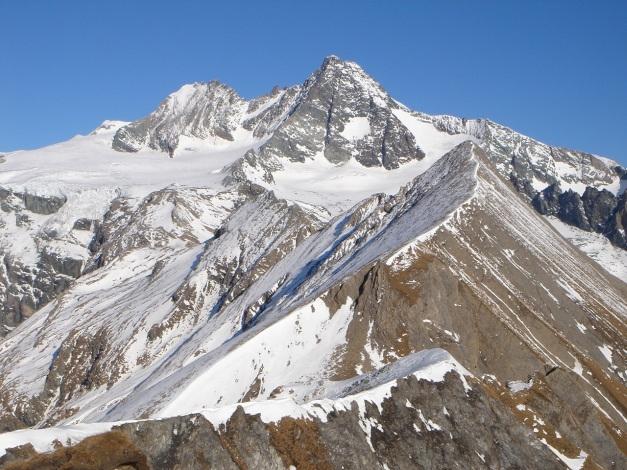Foto: Manfred Karl / Wander Tour / Figerhorn - Aussichtstribüne mit Glocknerblick / Großglockner vom Figerhorn / 31.08.2009 16:44:07
