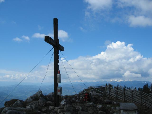 Foto: pepi4813 / Wander Tour / Überschreitung der Roten Wand / Gipfelkreuz Rote Wand / 09.07.2009 21:52:31