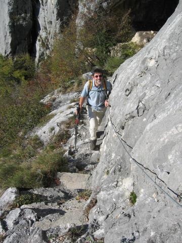 Foto: pepi4813 / Wander Tour / Gratwanderung über dem Gardasee bei Pregasina / Aufstieg über die Scala Santa / 10.07.2009 10:19:44