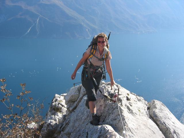 Foto: pepi4813 / Klettersteig Tour / Auf dem Sentiero Fausto Susatti zur Cima Capi / Am Südgrat zur Cima Capi / 10.07.2009 21:35:11