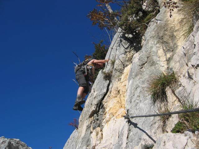 Foto: pepi4813 / Klettersteig Tour / Auf dem Sentiero Fausto Susatti zur Cima Capi / Am Susatti Klettersteig / 10.07.2009 21:34:15